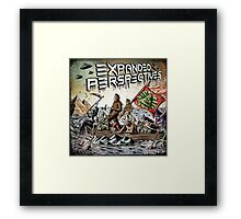 Expanded Perspectives Podcast aliens bigfoot conspiracies big foot sasquatch pyramids ancient america history cryptid crypto monster illuminati egypt Framed Print