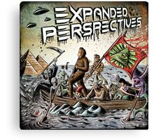 Expanded Perspectives Podcast aliens bigfoot conspiracies big foot sasquatch pyramids ancient america history cryptid crypto monster illuminati egypt Canvas Print
