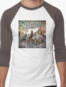 Expanded Perspectives Podcast aliens bigfoot conspiracies big foot sasquatch pyramids ancient america history cryptid crypto monster illuminati egypt Men's Baseball ¾ T-Shirt