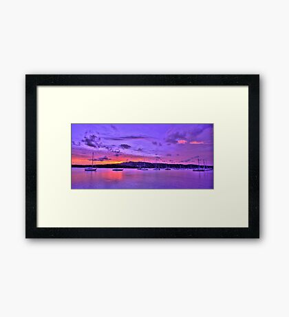 Lavender Blush - Newport - The HDR Experience Framed Print