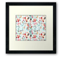 Mixed colors triangles Framed Print