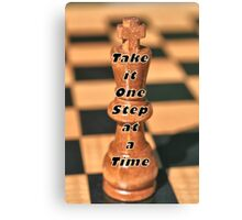 One Step at a Time Humorous Chess Quote Canvas Print