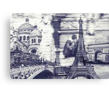 greetings from paris Canvas Print