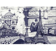 greetings from paris Photographic Print