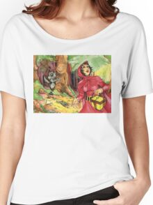 Red Riding Hood in the Woods Women's Relaxed Fit T-Shirt