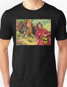 Red Riding Hood in the Woods Unisex T-Shirt