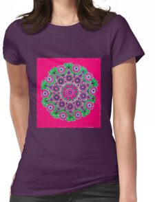 Doily Joy Mandala- Pure Joy Womens Fitted T-Shirt