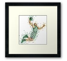 Slam Dunk Green Framed Print