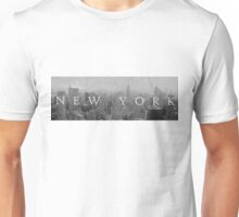 New York Panorama (Back and White) Unisex T-Shirt