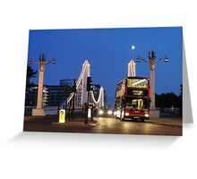 Chelsea Bridge with Red Double-decker Greeting Card