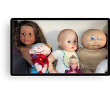 Five Lovely Dolls Canvas Print
