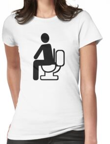 Person toilet Womens Fitted T-Shirt