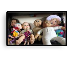 Seven Lovely Dolls Canvas Print