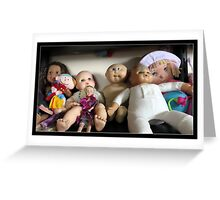 Seven Lovely Dolls Greeting Card