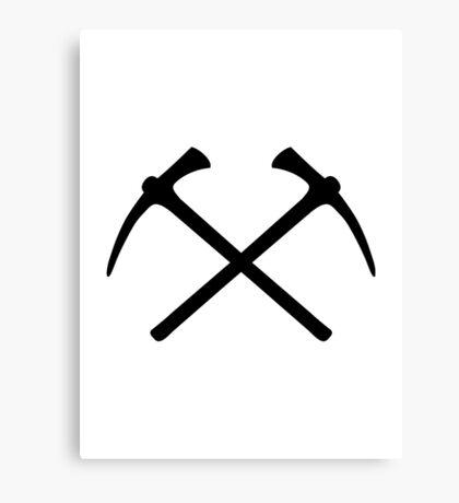 Climbing picks axe Canvas Print