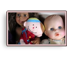 three lovely dolls Canvas Print