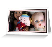 three lovely dolls Greeting Card