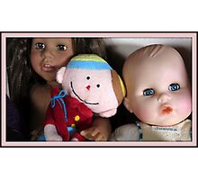 three lovely dolls Photographic Print