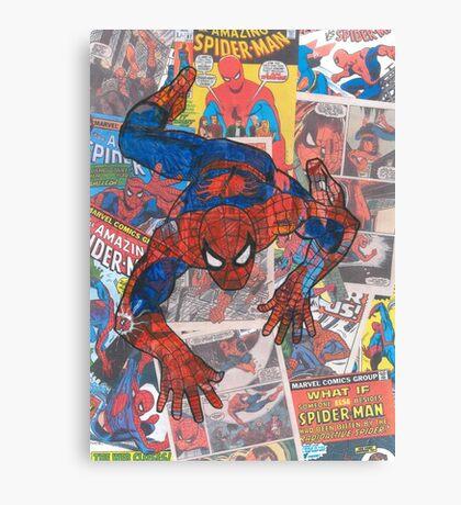 Vintage Comic Spiderman Canvas Print