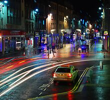 Inverness High Street at night by Fraser Ross