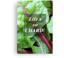 Vegetable Geek Humor Swiss Chard Organic Veggies Canvas Print