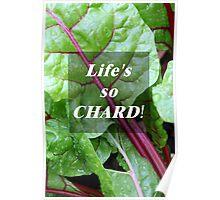 Vegetable Geek Humor Swiss Chard Organic Veggies Poster