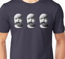 Doll in Triptych Unisex T-Shirt