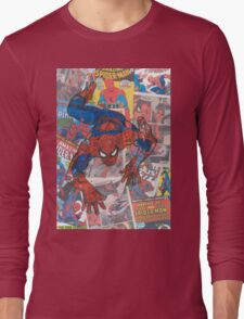 Vintage Comic Spiderman Long Sleeve T-Shirt