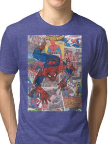 Vintage Comic Spiderman Tri-blend T-Shirt