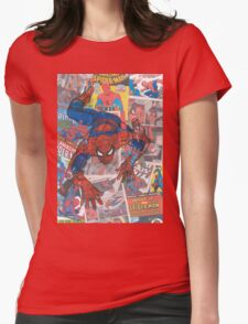 Vintage Comic Spiderman Womens Fitted T-Shirt