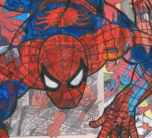 Vintage Comic Spiderman Sticker
