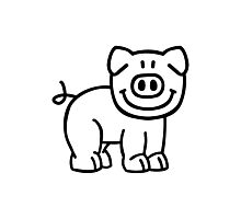 Cute pig Photographic Print