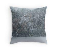 Fall Snowstorm Throw Pillow
