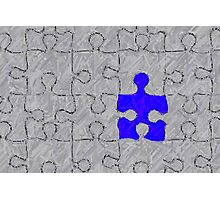 Puzzle piece Photographic Print