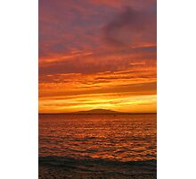 Fiery Maui Sunset Photographic Print