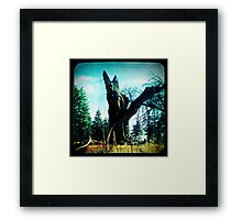 Ttv: Tree Dead Center Framed Print