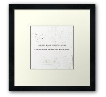Famous Last Words - My Chemical Romance Framed Print