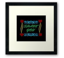 Thank You Card Framed Print