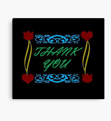 Thank You Card Canvas Print