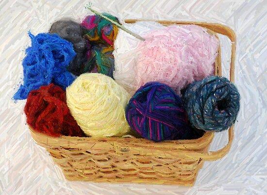 yarn in a basket by NicPW