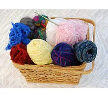 yarn in a basket Photographic Print