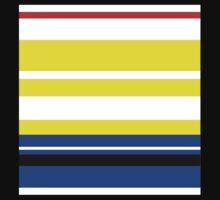 Yellow, white, blue, stripes Kids Tee