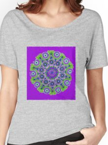 Doily Joy Mandala- Violet Flame Women's Relaxed Fit T-Shirt