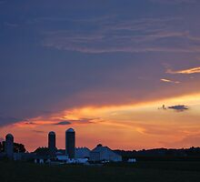 Lancaster County, PA Sunset by sarahshanely