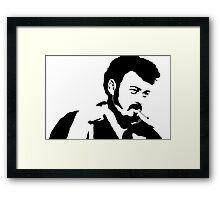 Ricky Silhouette  Framed Print