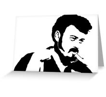 Ricky Silhouette  Greeting Card