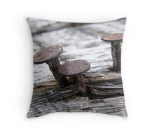 Steel Mushrooms Throw Pillow