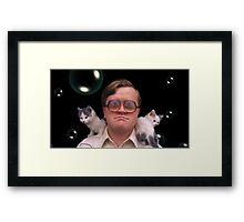 Bubbles and Kitties Framed Print