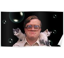 Bubbles and Kitties Poster
