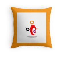 RED and orange ABSTRACT FIGURE Throw Pillow